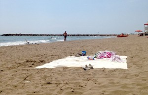 Fin sand og varmt vann :)